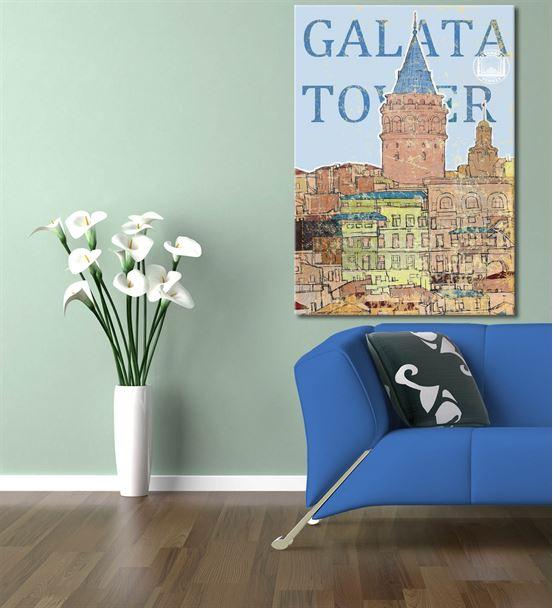 Nostalji Galata Serisi A Kanvas Tablo 35x50 cm