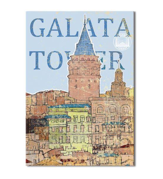 Nostalji Galata Serisi A Kanvas Tablo 50x70 cm