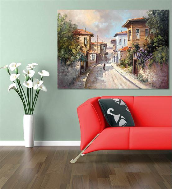 Nostalji Sokaklar Serisi A Kanvas Tablo 20x30 cm