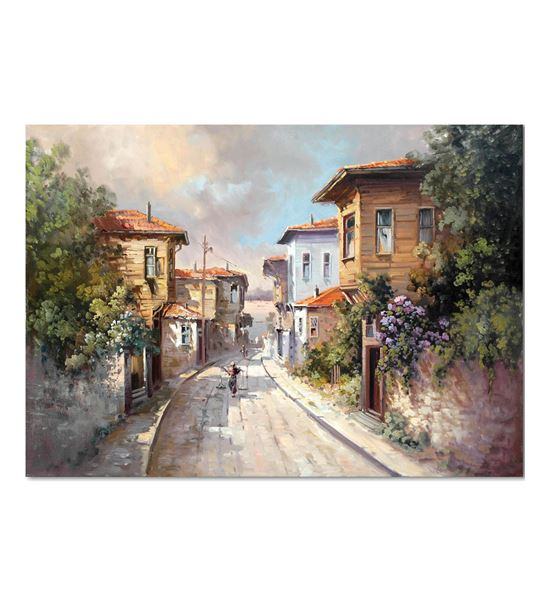 Nostalji Sokaklar Serisi A Kanvas Tablo 60x90 cm