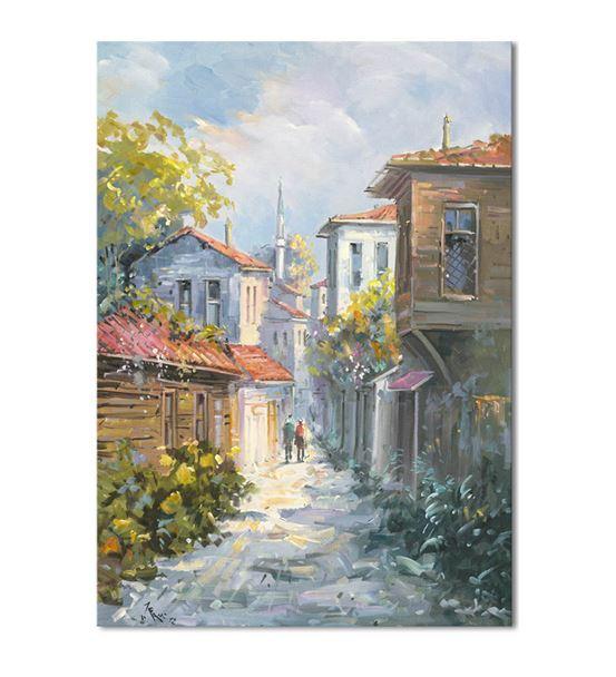 Nostalji Sokaklar Serisi B Kanvas Tablo 75x100 cm