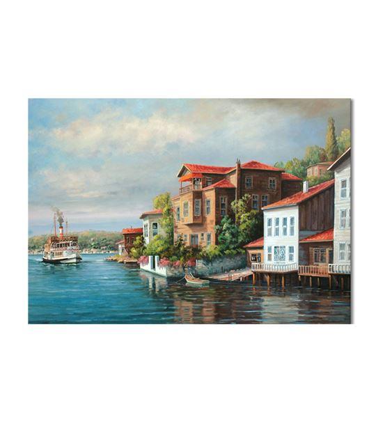Nostalji Yalılar Serisi A Kanvas Tablo 50x70 cm