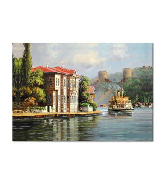 Nostalji Yalılar Serisi B Kanvas Tablo 50x70 cm