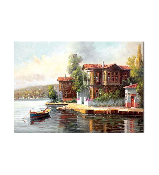 Nostalji Yalılar Serisi C Kanvas Tablo 60x90 cm