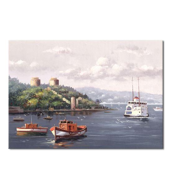 Nostalji Yalılar Serisi D Kanvas Tablo 50x70 cm