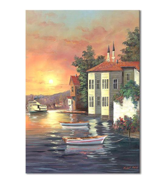 Nostalji Yalılar Serisi E Kanvas Tablo 50x70 cm