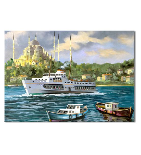 Nostalji Yalılar Serisi F Kanvas Tablo 20x30 cm
