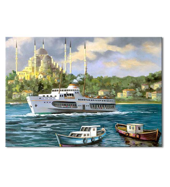 Nostalji Yalılar Serisi F Kanvas Tablo 35x50 cm