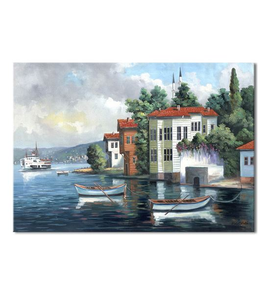 Nostalji Yalılar Serisi G Kanvas Tablo 20x30 cm