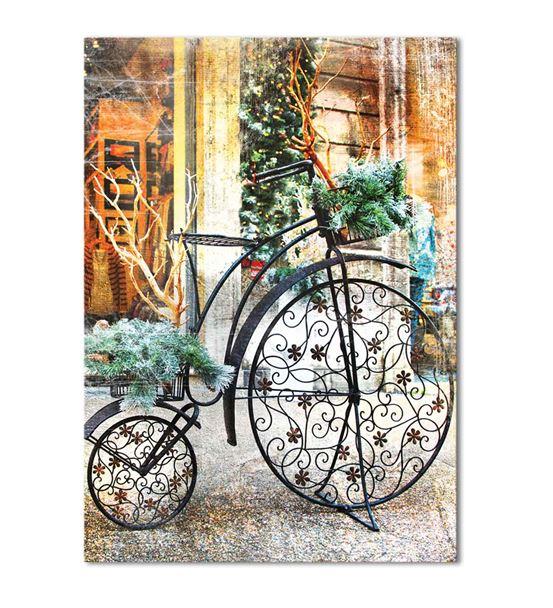 Nostaljik Bisiklet Serisi B Kanvas Tablo 35x50 cm