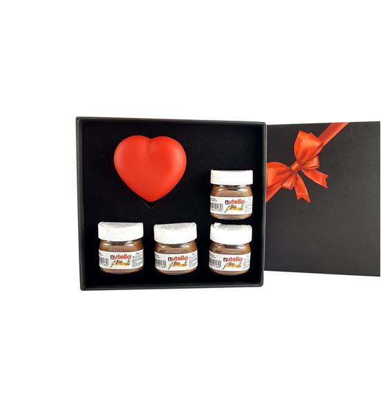 Nutella ve Işıklı Kalp Hediye Seti