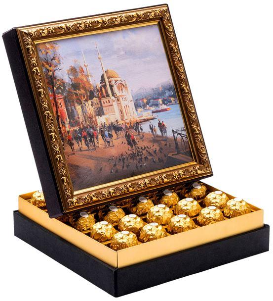 Ortaköy Camii Çerçeveli Çikolata Kutusu