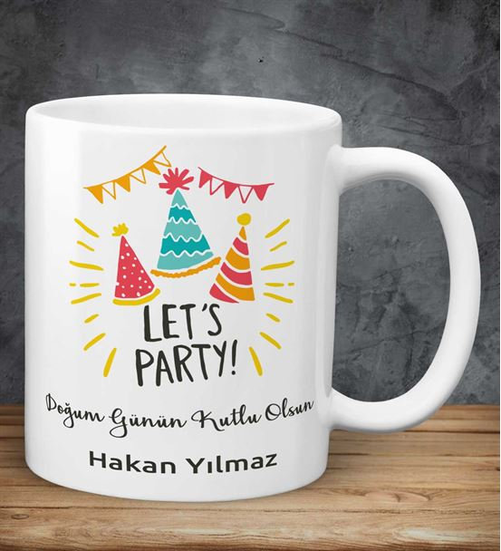 Parti Başlasın Temalı Doğum Günü Kupası