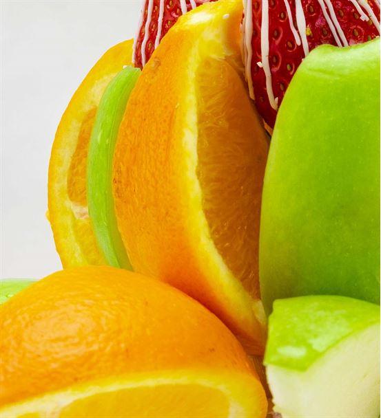 Portakal Elma Bahçesi Meyve Sepeti Aranjmanı