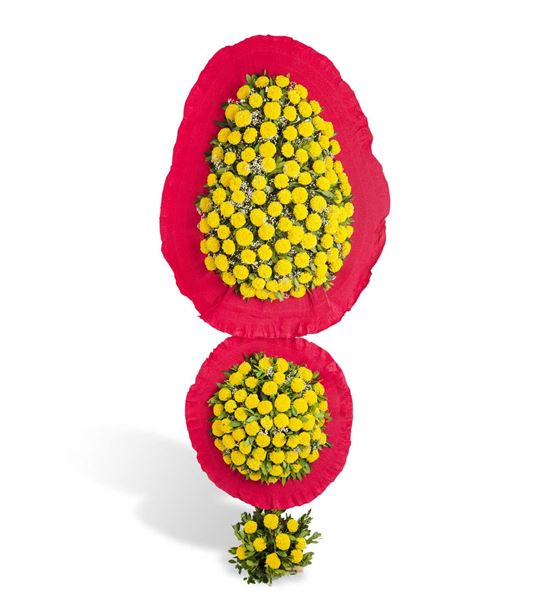 Renkli Kutlama Sarı Kırmızı Cinya Çelengi