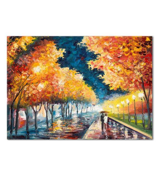 Renkli Sonbahar Kanvas Tablo 50X70 cm