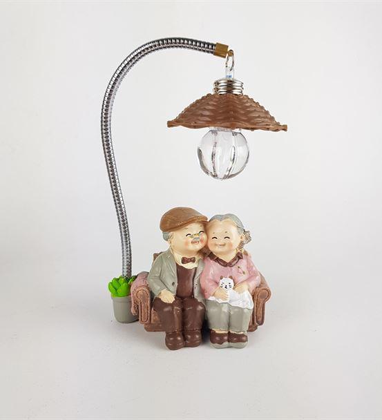 Romantik Yaşlı Çift Sevimli Aşıklar Biblosu