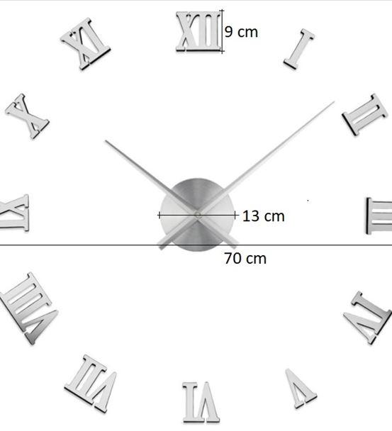 Romen Rakamlı 70 Cm'lik Dev Duvar Saati