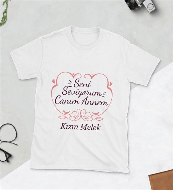 Seni Seviyorum Canım Annem Baskılı Tshirt