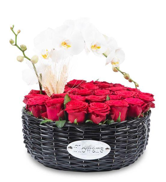 Sepet Dolusu Güller ve Orkide