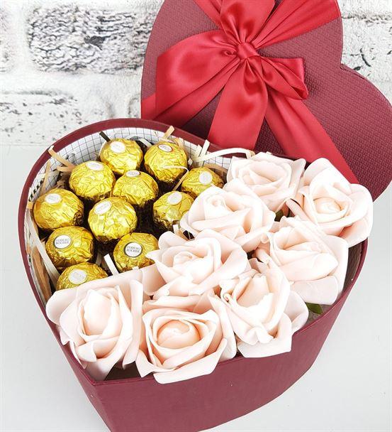 Sevdiğine Çikolata Gül Sepeti