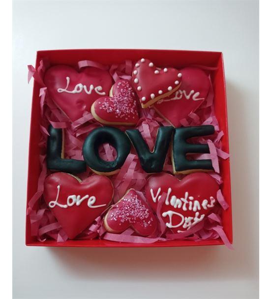 Sevgililer Günü Özel Kalpli Kurabiye Kutusu
