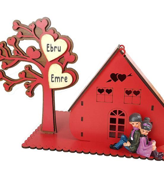 Sevgiliye Hediye Ahşap Aşk Evi