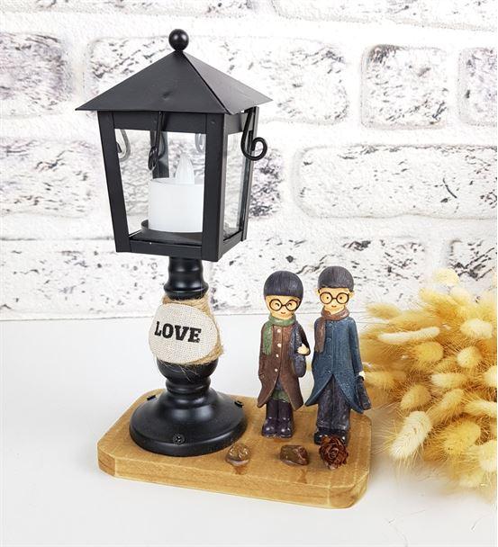 Sevgiliye Hediye Işıklı Aşk Dolu Tasarım Biblo