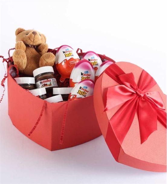 Sevgiliye Hediye Nutella Aşk Sepeti