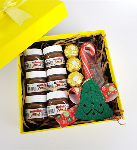 Sevgiliye Yılbaşı Özel Nutella Dolusu Mutluluk Hed