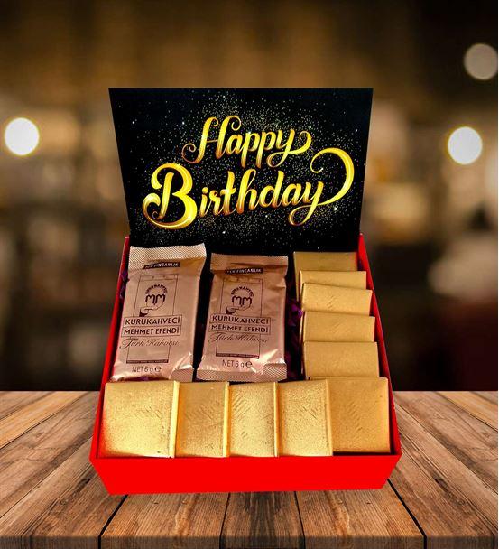 Siesta Kahve ve Çikolata Doğum Günü Kutusu