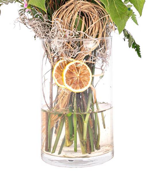 Silindir Cam Vazoda Ayçiçeği Tasarım
