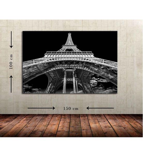 Siyah Eyfel Büyük Boy Kanvas Tablo 100x150 cm
