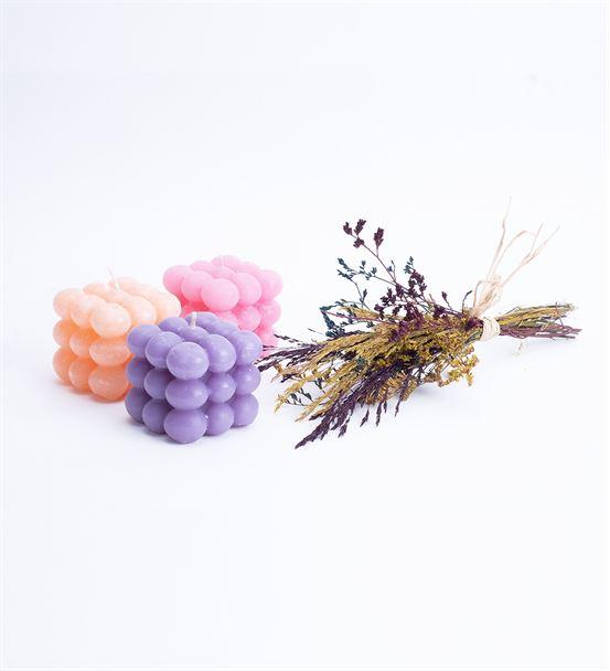 Soft Renkli Bubble Mum Hediye Seti 1