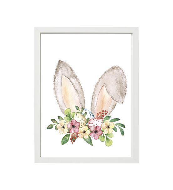 Soft tavşan kulağı çiçekli tekli çerçeve seti