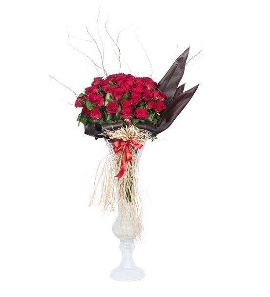 Sonsuz Sevgi 60 Kırmızı Güller