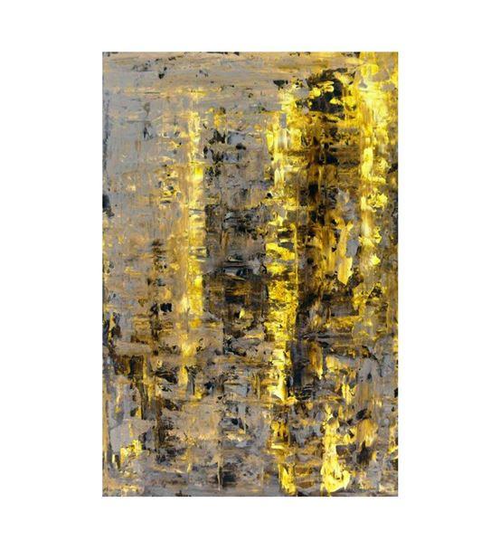 Soyut Altın Siyah Kanvas Tablo 35x50cm