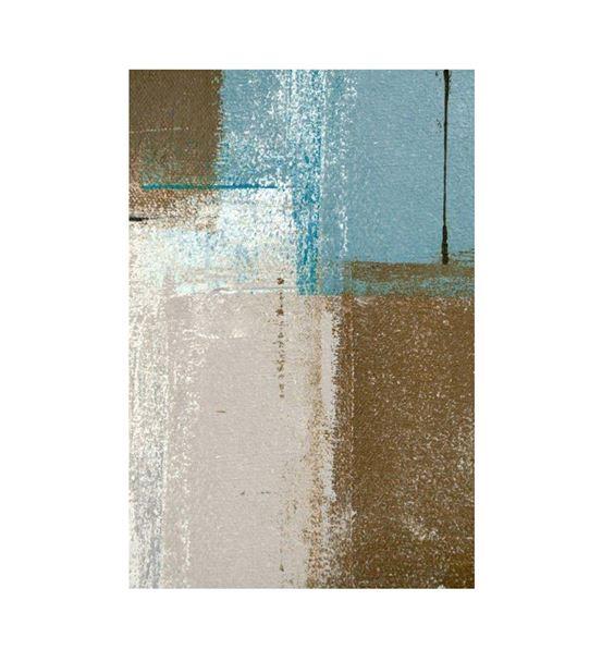 Soyut Beyaz Bronze Kanvas Tablo 75x100cm