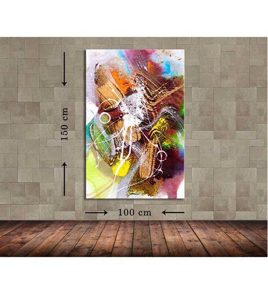 Soyut Çizgiler Büyük Boy Kanvas Tablo 100x150 cm
