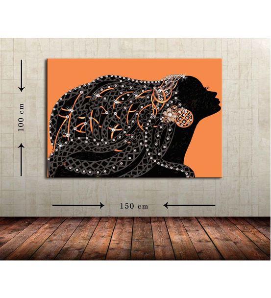 Soyut Kadın Büyük Boy  Kanvas Tablo 100x150 cm
