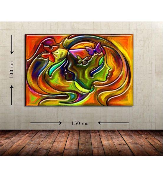 Soyut Kız Büyük Boy  Kanvas Tablo 100x150 cm