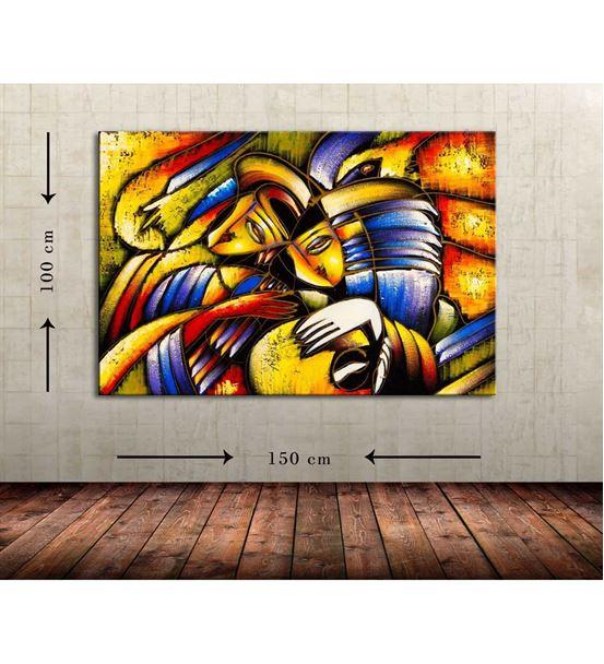 Soyut Maske Büyük Boy Kanvas Tablo 100x150 cm