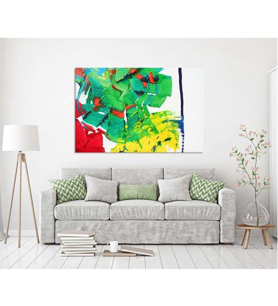 Soyut Renkli 20x30 cm Kanvas Tablo