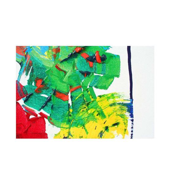 Soyut Renkli Kanvas Tablo 60x90cm