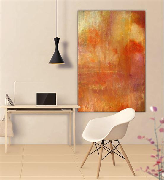Soyut Turuncu Kanvas Tablo 60x90cm