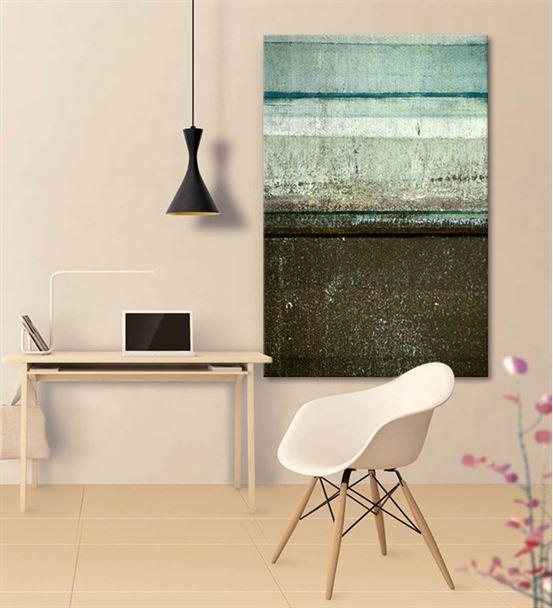 Soyut Yeşil Yatay Kanvas Tablo 60x90cm