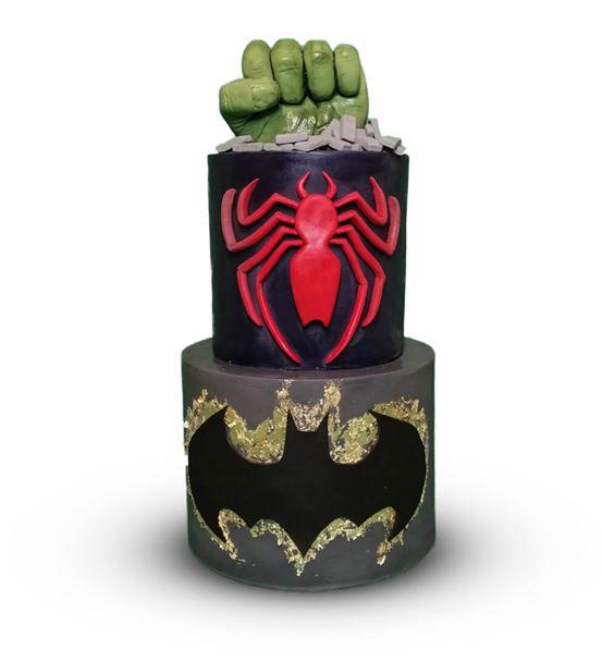Süper Kahramanlar Doğum Günü Pastası