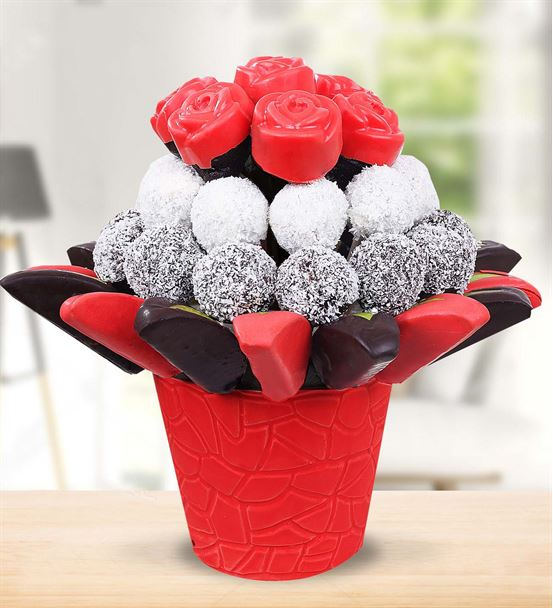 Tutkunum Sana Çikolatalı Kek Meyve Buketi