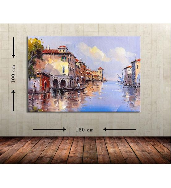 Venedik Büyük Boy  Kanvas Tablo 100x150 cm