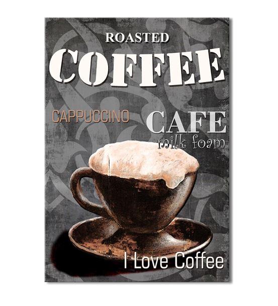 Vintage Coffee 20x30 cm Kanvas Tablo